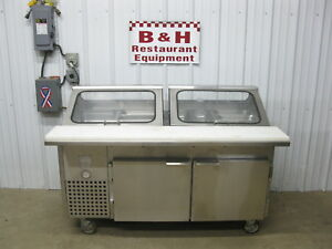 S g Manufacturing 60 2 Door Stainless Steel Refrigerated Make Up Prep Table 5