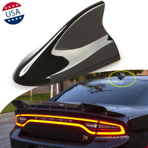 Black Large Auto Car Shark Fin Roof Antenna Radio Fm Am Aerial For Dodge Charger