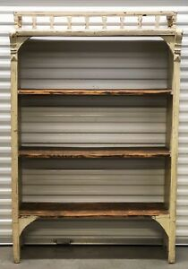 Antique Czech Republic Shabby Chic Open Bookshelf Bookcase Reclaimed Salvage