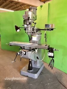 Bridgeport Milling Machine 9 X 48 Table w Power Feed And Dro 2 Hp Motor