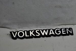 Genuine Vw Volkswagen Mk1 Rear Tailgate Badge Emblem Trunk Emblem Script