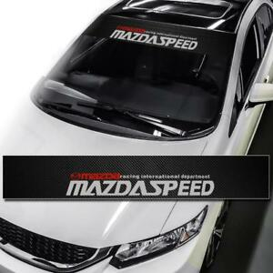 Mazdaspeed Windshield Carbon Fiber Vinyl Banner Decal Sticker For Mazda 3 6 Rx7