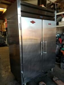 Utility F 54 2s tm 2 Stainless Steel Door Commercial Freezer 115v Tested