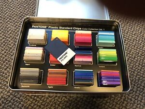 Pantone Plastic Standard Chips Color Collection Volume 1 With Extra Colors