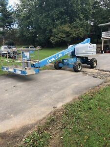 2006 Genie S40 40 4x4 Diesel Telescopic Rough Terrain Boom Man Lift