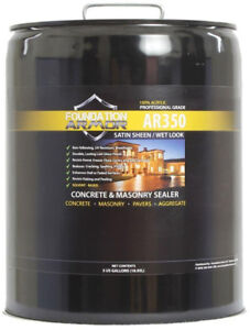 Concrete Sealer Paver Seal Foundation Armor 5 Gal Solvent Acrylic Wet Look