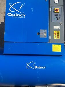 Air Compressor Quincy Qgs 15 hp 120 gallon Screw Rotary 208 230 460v 3 phase