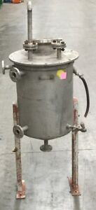 Stainless Steel Mixing Tank 28 Gallon Cone Bottom 1 Inlet Outlet Lot 1