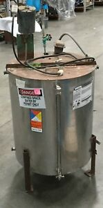 Stainless Steel Mixing Tank 120 Gallon W Mixer 1725 Rpm 1 3 Hp Lot 6
