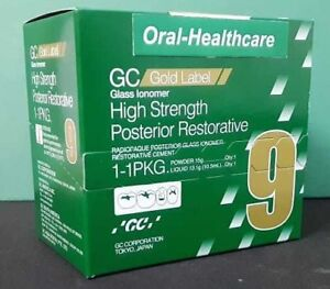 2x Dental Gc Gold Label Gic High Strength Posterior Restorative Pack Type 9 A2