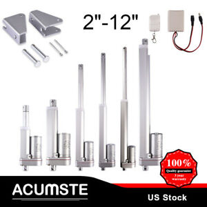 2 12 Inch Linear Actuator Stroke 225 Pound Max Lift Output 12v Volt Dc 12mm s