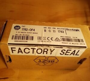 Factory Sealed Allen Bradley 1762 of4 Ser B Rev C Micrologix 4 Chnl Analog