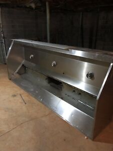 Commercial 120 10 Ft Restaurant Vent Hood Stainless Steel Captiveaire