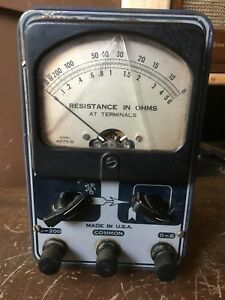 Hickok Tester resistance In Ohms Model 4975 s