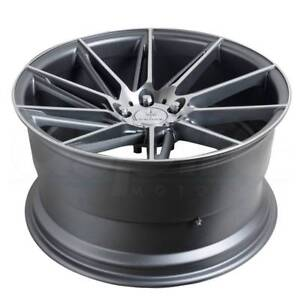 4 New 20 Verde V25 Quantum Wheels 20x9 5x120 20 Graphite Machined Rims