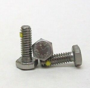 25 New 1 4 20 X 3 4 Hex Cap Screw 304 Ss W nylon Pellet Astm F593c Free Ship Nh