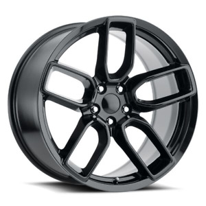 20 Tires Stagger Wheels Hellcat Widebody Style Gloss Black Challenger Charger