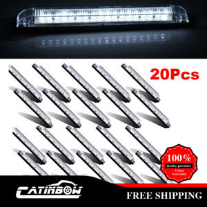 20pcs 8 Clear white 18 Diodes Led Utility Strip Light 12v Assembly Waterproof