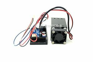 450nm 120mw Blue Laser Dot Diode Module 12v With Ttl Fan New 33x33x50mm