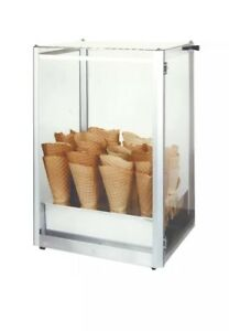 Waffle Cone Display Case Gold Medal 8211 Plexiglass Stainless Steel