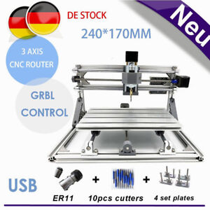 Diy 3 Axis 2417 Cnc Router Engraving Machine Laser Engraver Pcb Cutter Usb 60w