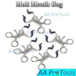 5pcs Set Molt Dental Mouth Gag 5 5 Premium Stainless Oral Orthodontic Tools