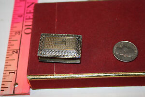 Antique Georgian Sterling Silver Gilt Vinaigrette Birmingham 1827 Thomas Shaw
