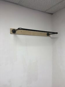 3 Industrial Wall Clothing Hanging Rack
