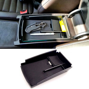 Car Center Console Armrest Secondary Storage Box Tray For Vw Passat Cc B6 B7