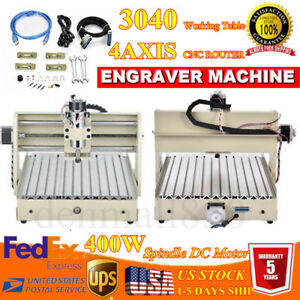 2x Usb 3040 4axis Cnc Router Engraver Machine Desktop Engraving Cutting software