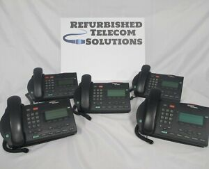 Lot Of 5 Nortel M3903 Charcoal Digital Office Phones used