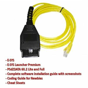 Ethernet To Obd Interface Cable E Sys Icom Coding F Series For Bmw Enet 2m My