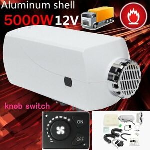 5kw 12v Diesel Air Fuel Heater Tank Vent Duct Thermostat For Car Truck Bus Van Y