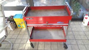 Mac Tools Vintage Hd Roll Cart W 1 Drawer And 2 Keys red Chrome