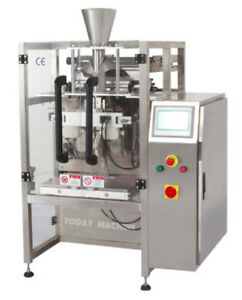 100 3000g Large Vertical Form Fill Seal Machine With Lapel Funnel