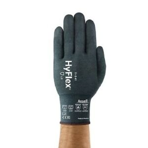 New Ansell Hyflex 11 541 Size 2x Nitrile Coated Cut A4 Safety Glove 2 Pack