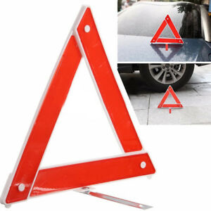Car Emergency Breakdown Warning Triangle Red Reflective Safety Tool Travel Kit