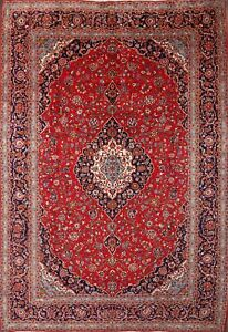 Enticing Vintage Traditionalfloral 10x14 Wool Kaashaan Persian Oriental Area Rug
