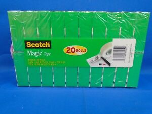 Scotch Magic Tape 3 4 X 900 Inches Boxed 20 Rolls 810s