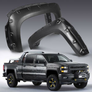 4pcs Fender Flares Pocket Style For 2007 2013 Chevy Silverado 1500 69 Short Bed