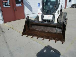 Bobcat 80 4 1 Combo Bucket For Skid Steer Loaders Quick Attach Good Teeth