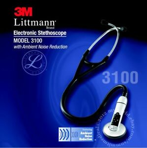 3m Littmann 3100 Electronic Stethoscope Black New