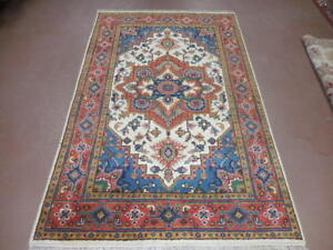 4x6 Fine Quality Hand Made Wool Persian Design Heriz Serapi Veg Dyes Rug