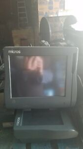 Micros Point Of Sale System Lot workstation 4 touch Screen Being Sold As Is