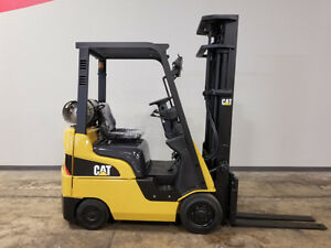 2006 Caterpillar C3000 3000lb Cushion Forklift Lpg Lift Truck Hi Lo 91 217