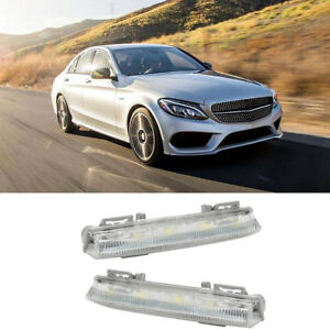 Car Styling White Front Bumper Drl Fog Lights For Mercedes Benz W204 W212 R172