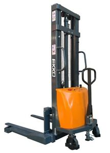 Semi electric Walkie Pallet Jack Straddle Stacker 3300 119 4 Lift Ekko Ea15a