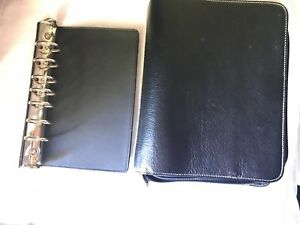 Franklin Covey Black Leather Unstructured Binder Planner