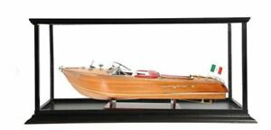Aquarama Speed Boat Exclusive Edition With Display Case Wood Model Assembled