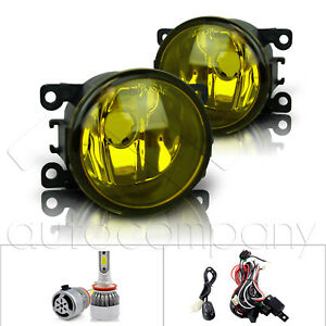 For 2013 2014 Ford Fusion Fog Lights W wiring Kit C6 Led Bulbs Yellow
